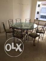 large dining table with 8 chairs+ovale table