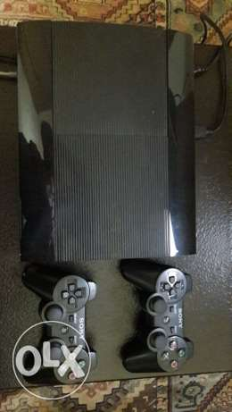 For sale ps3+3 cd's (fifa16 , gta5 ,& 2k16basket) with two controllers