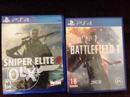 ps4 sniper elite 4 and bf1