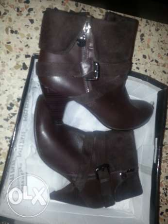 Shoes leather size 38 الميناء -  2