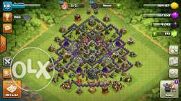 Clash of clans town hall 9 800 gems for 40$