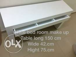 White bedroom make-up table