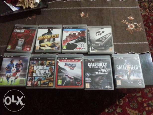ps3 used 2 joysticks 10+games انطلياس -  2