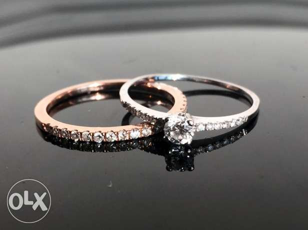 Wedding rings - Diamond solitaire + eternity ring