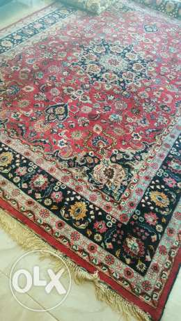Beautiful old signed ajame rug
