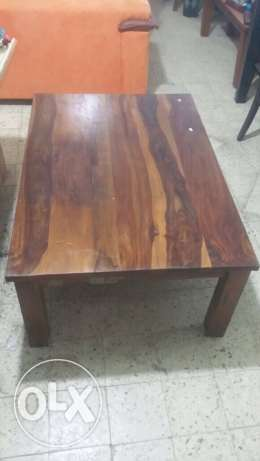 set of solid wood tables