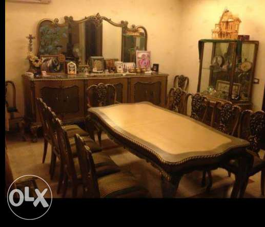 amazing antique hand carved dining room.