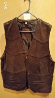 Gilet lether from russia new not used