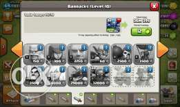 clash of clan for sale clan leve 8