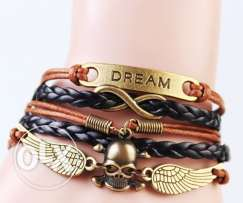 Dream, Infinity & Skull Wings Bracelet