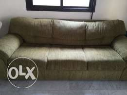 2 large sofas 1 small 1 dressoir in good condition
