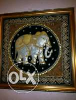 Thailand hand made nice elephant with a good frame without any scratch