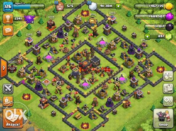 clash of clans th10 quarter maxed