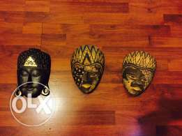 3 decorative masks