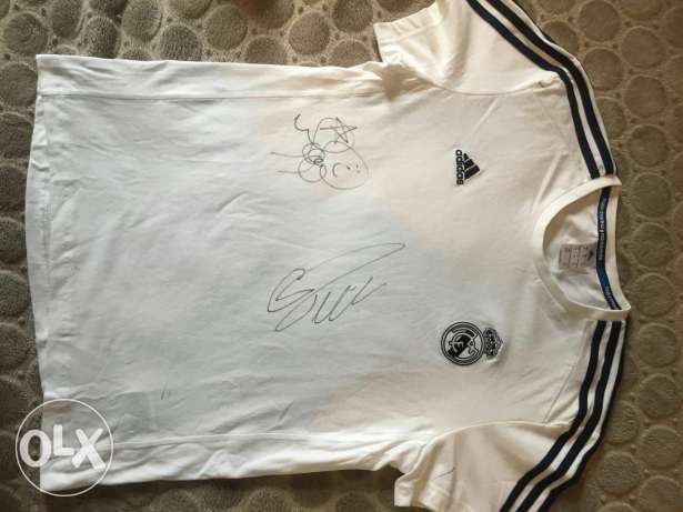 Real Madrid Tshirt signed by Cristiano & Marcelo