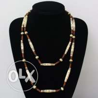 African wooden necklace