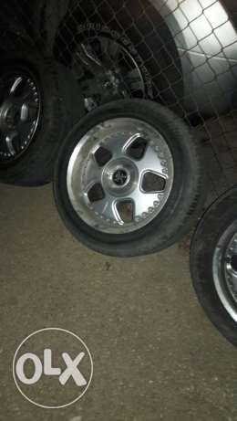 "Keskin rims 16"" wa2ften new tires like new 270$"