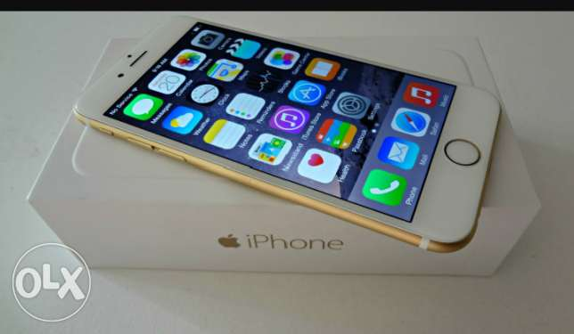 Iphone 6 gold 16g 4g 5are2 5are2 ndife ktir bi 300$ bas ma3 kamel 8rad
