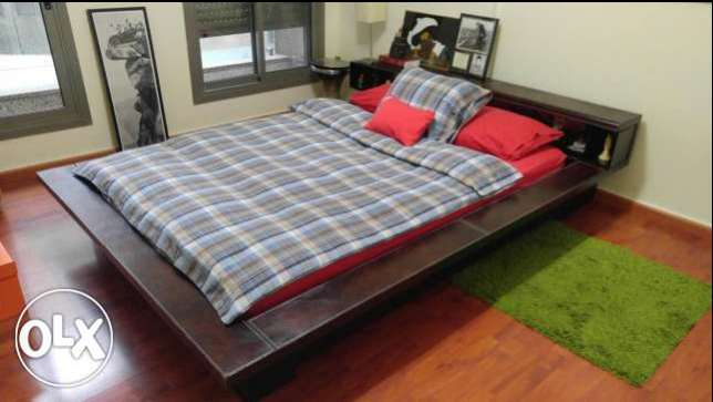 Bed, Frame and Mattress