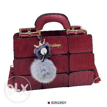 High quality famous brand leather shoulder messenger handbag