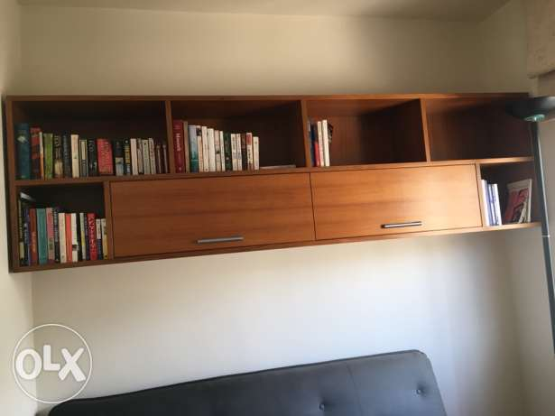 custom-made wall shelf and cabinet unit