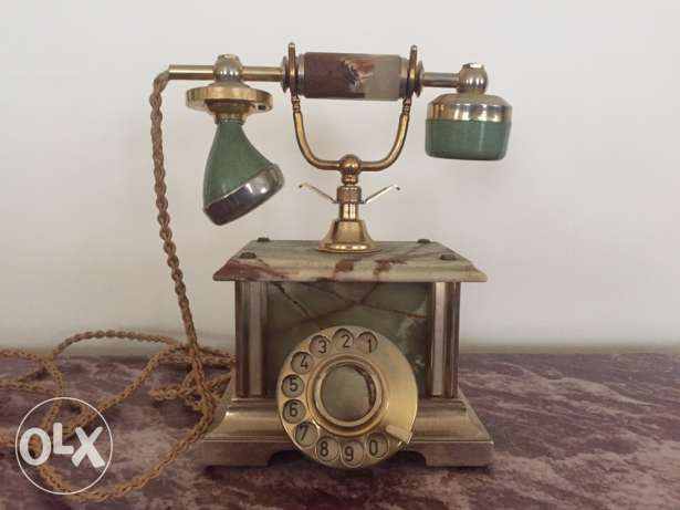 Antique telephone 18 k Gold plated Nostalgie