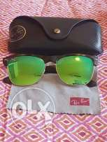 Raybans- mirror green