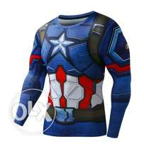 Slim fit superman and captain star long sleeves shirt