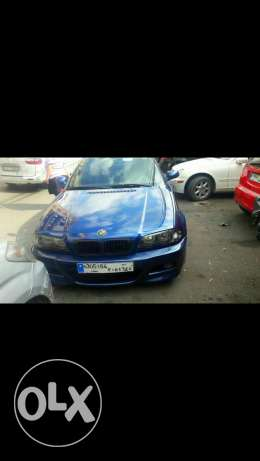 Bmw 323 model 200 3aleya look m3 model 2003 jeled recaro aswad For sale برج حمود -  2