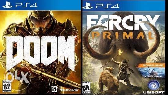 for trade or sale: doom ; Farcry primal