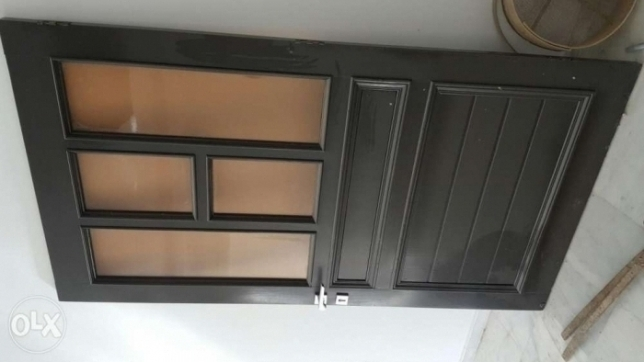 Wide wooden door