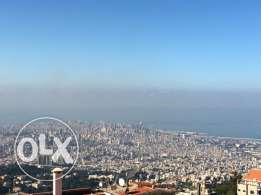 Unique land for sale in Beit Mery with panoramic view to Beirut & sea