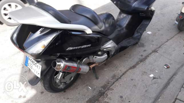 Motorcycle Silver wing
