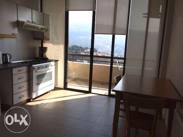 BAABDA Furnished apartment 3 bedrooms for rent with open view أشرفية -  7