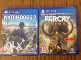 watch dogs 2 ps4 /farcry primal ps4