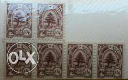 Old stamps 0.5 paisters 6 pcs