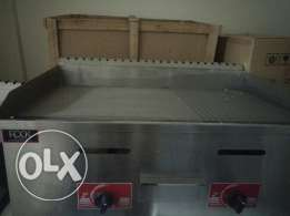 gas griddle 80 cm stainless steel with warranty