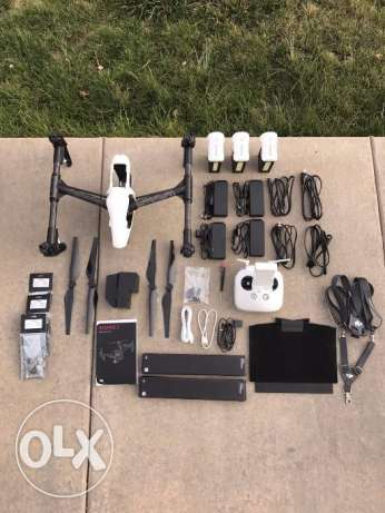 dji inspire 1 with full accessories and extras