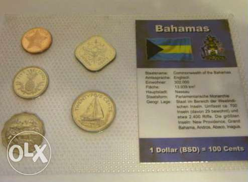 Bahamas – Uncirculated set of 5 coins year 2000 / 2004