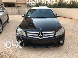 c class300 blk/blk leather look amg model2009 navigation ajnabi