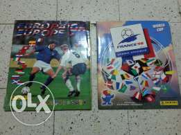 Panini albums euro96 and wc98
