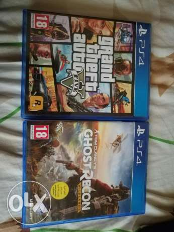 Gta 5 and ghost recon for sale like new super ndaf loc tripoli