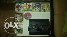 Ps3 500 gb 7 games like new and 3 cntrls