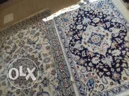 Nain wool and silk rugs