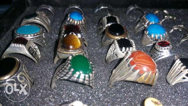 Original 925 Silver achat Stones fayroz gad 3a2e2 from germany صور -  1
