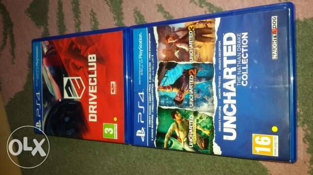 Ps4 cds uncharted collection + driver club full version