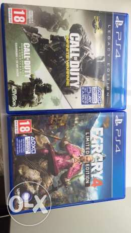 Farcry 4 Limited edition & Infinite Warfare Legacy Edition (Both PS4)