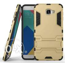 For SAMSUNG GALAXY A9 PRO Tough Armor Cover Case Gold Color
