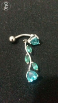 blue belly piercing ring