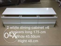 2 white dinning cabinet
